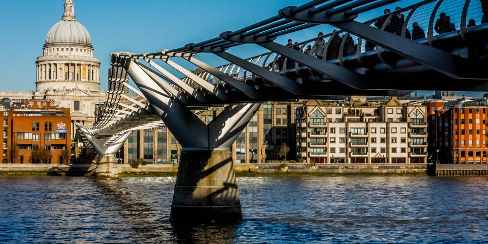 England - London: London Millennium Footbridge, Большой Лондон, Великобритания - Англия