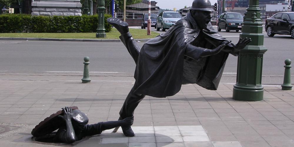 Брюссель: Скульптура Ваарткапена, Брюссель, Бельгия