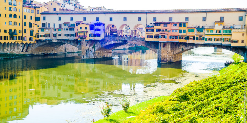 Флоренция: Понте Веккио, Тоскана (Флоренция, Пиза, Сиена, Прато, Ливорно, Ареццо), Италия