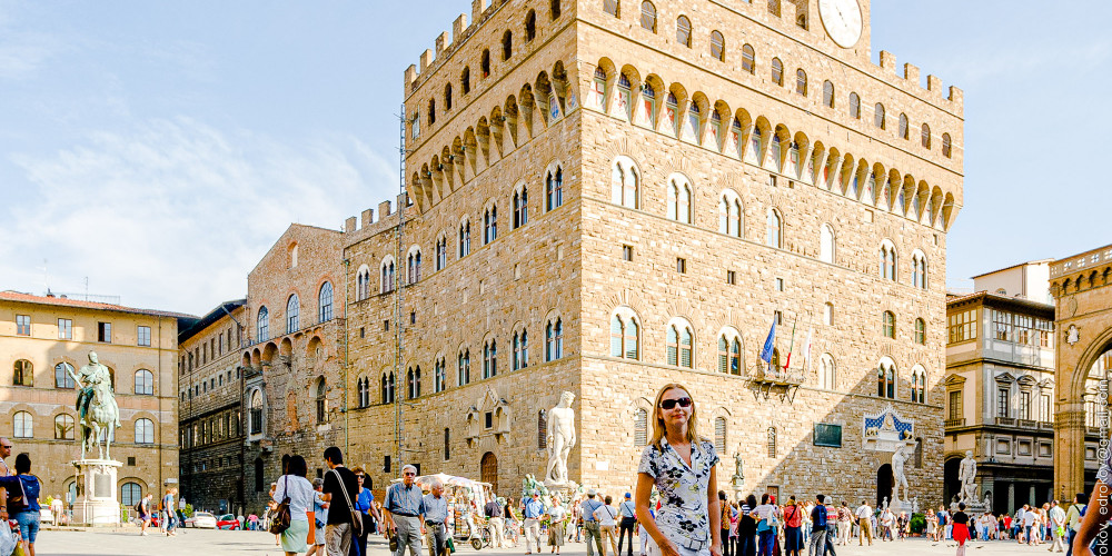 Флоренция: Палаццо Веччио, Тоскана (Флоренция, Пиза, Сиена, Прато, Ливорно, Ареццо), Италия