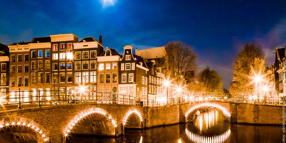 Каналы Амстердама 17 века внутри Сингелграхт, Центр и Запад (Амстердам, Роттердам, Утрехт, Алмере), Нидерланды