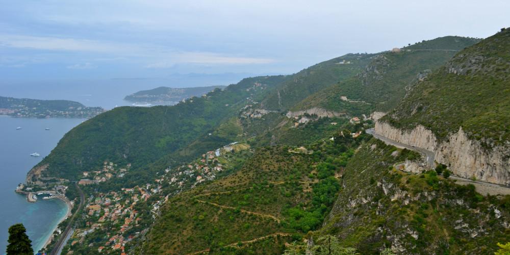 M2564: Grand Corniche Road (Nice-Monaco), Прованс-Альпы-Лазурный берег (Ницца, Марсель, Тулон, Авиньон), Франция