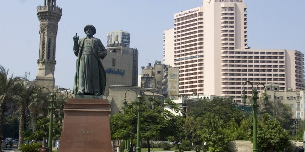 Cairo: Omar Makram Statue, Каир, Гиза, Файюм, Бени Суеф, Миня, Египет - Центральный