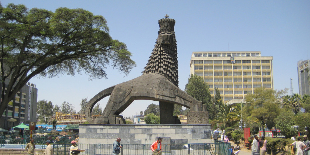 Аддис-Абеба: Памятник Льву Иудейскому, Аддис-Абеба, Эфиопия