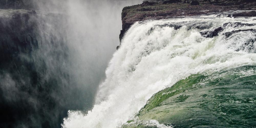 Водопад Виктория, Южный и Западный (Ливингстон, Монгу), Замбия