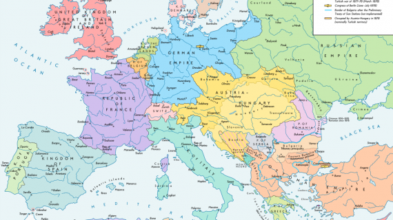 Нестандартные карты Европы